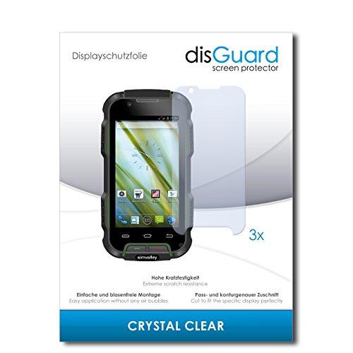 disGuard® Bildschirmschutzfolie [Crystal Clear] kompatibel mit Simvalley Mobile SPT-900 V2 [3 Stück] Kristallklar, Transparent, Unsichtbar, Extrem Kratzfest, Anti-Fingerabdruck - Panzerglas Folie, Schutzfolie