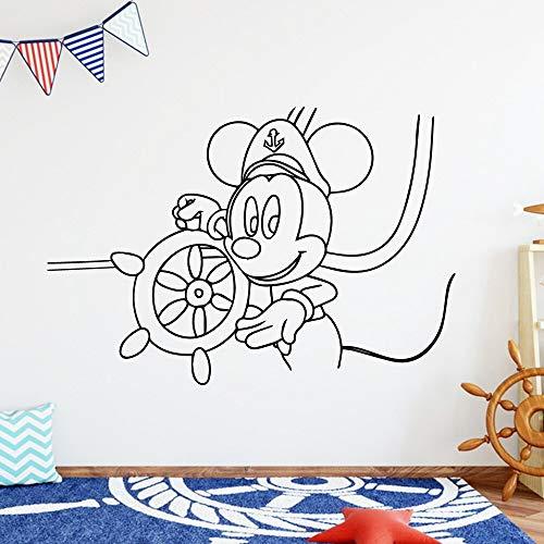BailongXiao Moderne Maus wandkunst Applique wandmalerei PVC wandtattoos Familie Party Dekoration tapete 50x73 cm