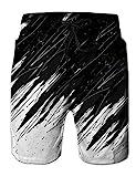 NEWISTAR Uomo Calzoncini da Bagno per Surf Hotspring sulla Spiaggia 3D Stampa Pantaloncini Sportivi