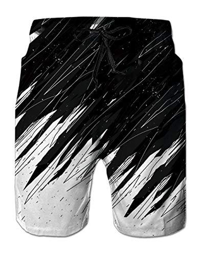 Fanient Bañador para hombre con estampado 3D, de secado rápido, ropa de playa, deportes, correr, playa, surf