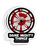 Dare Mighty Things Perseverance Mars Rover Landing Pattern Gift Decorations - 4x3 Vinyl Stickers, Laptop Decal, Water Bottle Sticker (Set of 3)