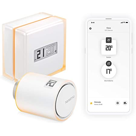 Netatmo Pack Termostato Wi-fi Inteligente + Válvula Inteligente para Radiador