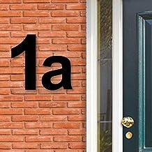 Huisnummer Acryl zwart, letter a, Hoogte 12cm