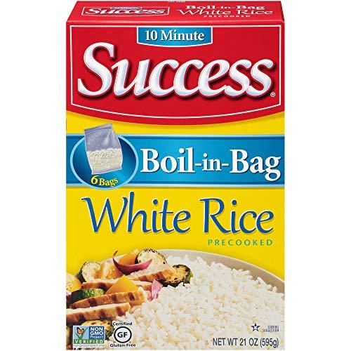 Success Boil-in-Bag Rice, Long Grain White Rice, 21 oz Box