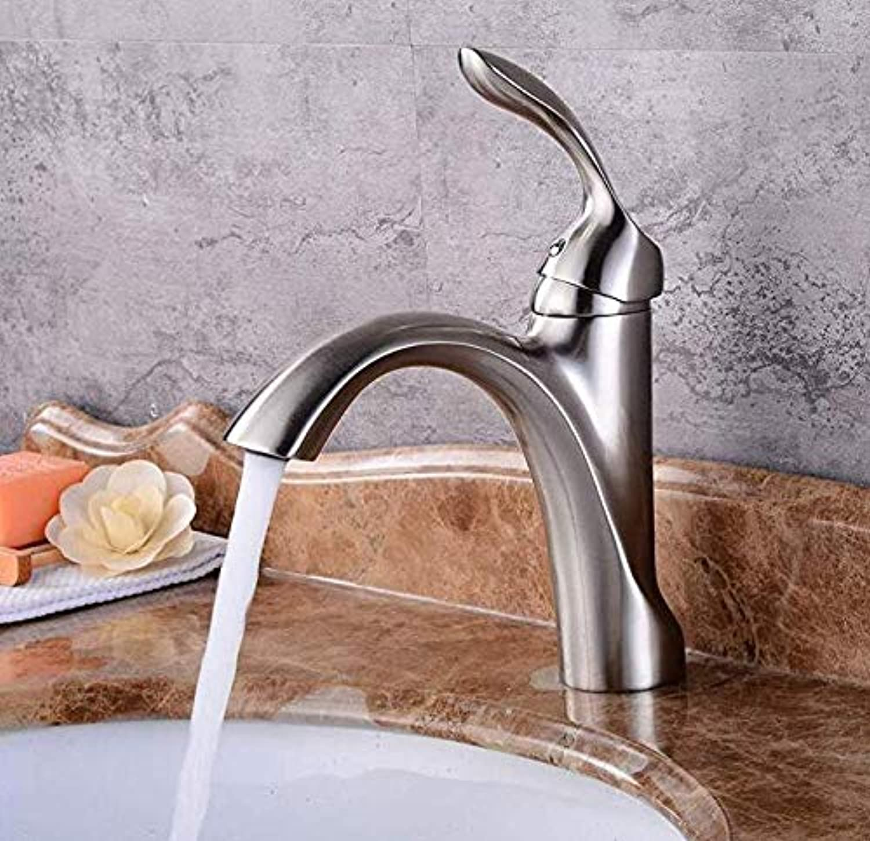Bathroom Sink Tap Hot Cold Faucet Washbasin Single Handle 360 Degree redation All Copper European Basin Faucet Retro Hot and Cold Faucet Bathroom Wash Basin Faucet