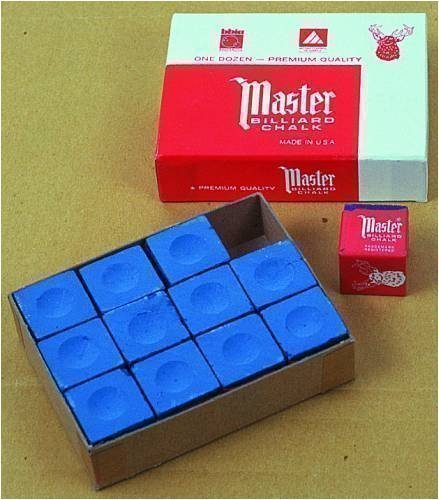 Original USA Billardkreide Master, 12 Stück im Karton: Blau