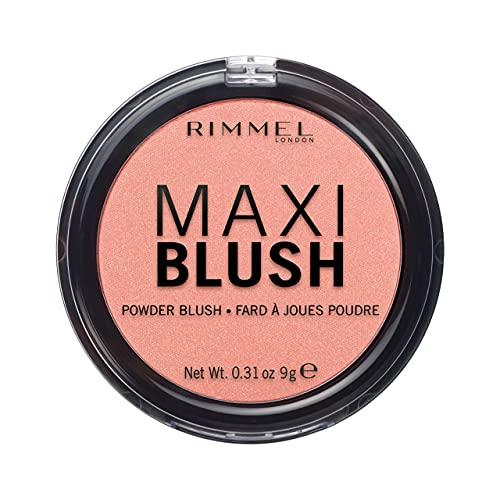 Rimmel London Fard in Polvere Maxi Blush, Powder Blush Pesca a Lunga Durata, Formato Maxi, 001 Third Base, 9 g