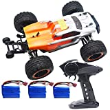 Blomiky 2435 Brushless 4WD 2.4GHz 1/16 Scale 45KMH High Speed Racing RC Truck Extra 2 Battery 16890A