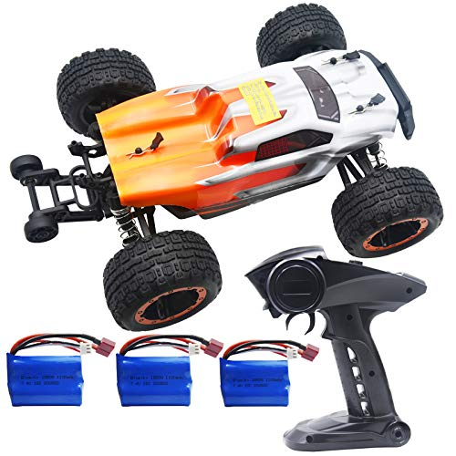 Blomiky Destroyer 2435 Brushless 4WD 2.4GHz 1/16 Scale 45KMH High Speed Racing RC Truck Extra 2 Battery 16890A