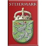 Kühlschrankmagnet - Wappen Steiermark - Gr. ca. 8 x 5,5 cm - 38113 - Küchenmagnet