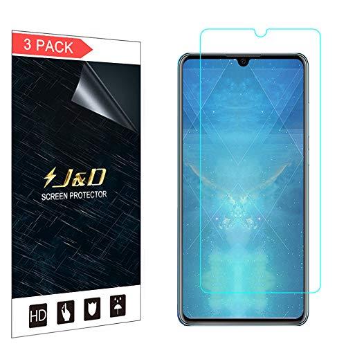 J&D Compatibile per 3 Confezioni Huawei P30 Pellicola Protettiva, [Non Piena Copertura] Premium Trasparente Protezione Schermo per Huawei P30 - [Non per Huawei P30 PRO Huawei P30 Lite]