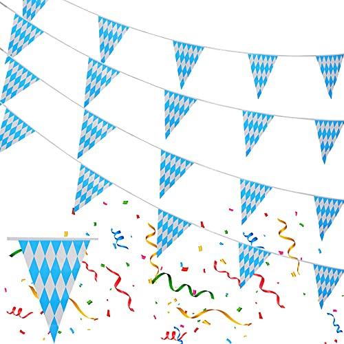 Oktoberfest Deko Oktoberfest Girlande,Oktoberfest Dekoration,Oktoberfest Wimpel für Deko Oktoberfest Party,Bayrische Deko,10m Oktoberfest Wimpelkette,Oktoberfest Luftschlangen,Oktoberfestdeko Banner