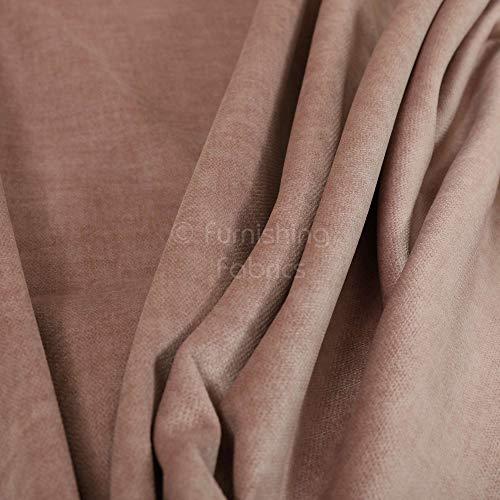 Möbelstoff, weicher Samt, Pink, für Heimtextilien, Sofa-Vorhänge, Polsterstoff, Meterware, Textil, rose, 10cm x 8cm Sample
