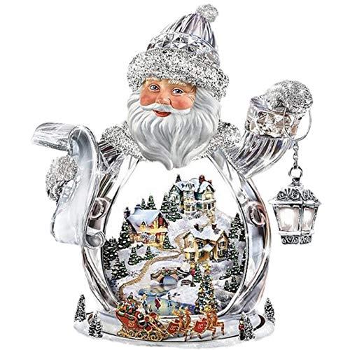 5D DIY diamante bordado Santa Claus Igloo diamante pintura punto de cruz cuadrado completo diamante mosaico decoración-30x40cm