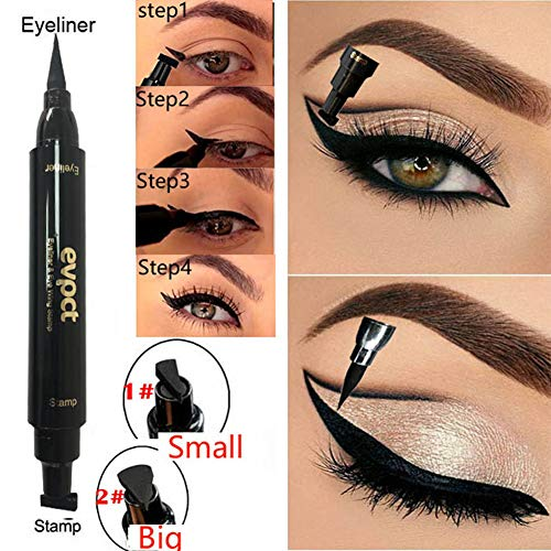 Rabusion Health For Double Head Wing Shape Liquid Eyeliner Seal Stamp Eyeliner Pencil Long Lasting Waterproof Eye Cosmetic