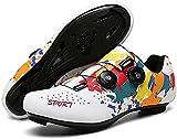 KUXUAN Zapatillas de Ciclismo,Zapatos de Bicicleta Sin...