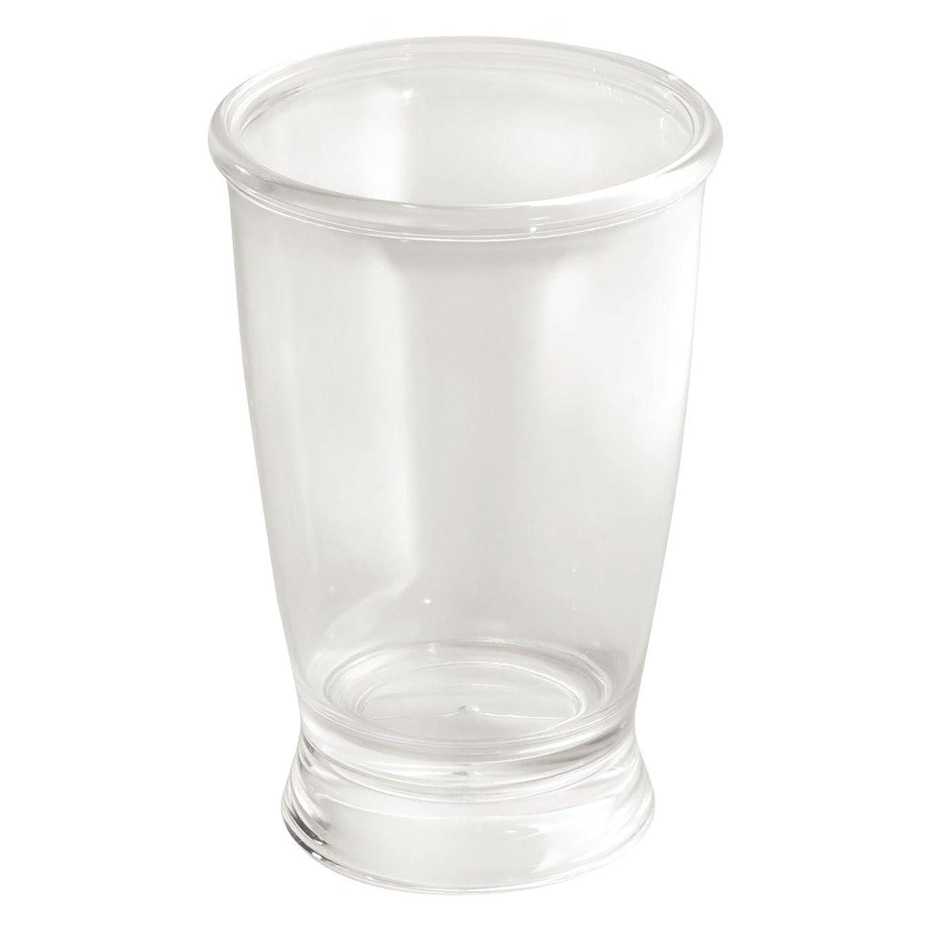 InterDesign Franklin Plastic Tumbler Cup for Bathroom Vanity Countertops - Clear
