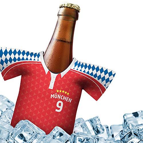 Fan-Trikot-kühler Home für FCB Fans | DRIBBEL-KÖNIG | 1x Trikot | Fußball Fanartikel Jersey Bierkühler by ligakakao.de