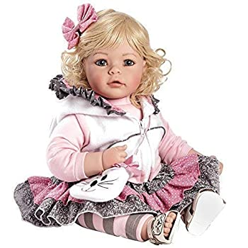 Adora Toddler Doll The Cat s Meow with cat themed outfit hooded vest and fuzzy cat purse 20 inches 2020924