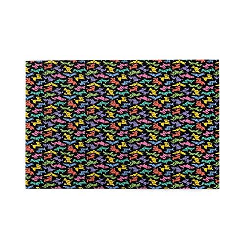 KIMDFACE Rompecabezas Puzzle 1000 Piezas,Figuras de Perro con gráficos de Estilo Origami Abstracto en Colores Vivos Diseño de Animales geométricos,Educa Inteligencia Jigsaw Puzzles para Niños Adultos