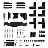 JAROLIFT Set de piezas de repuesto para puerta mosquitera con marco giratorio Profi Line, color negro