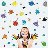Kair 35 pegatinas de pared con lunares de colores, pegatinas de pared para habitación infantil y bebé