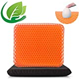 Thick Gel Seat Cushion for Long Sitting, Gel Cushion for Wheelchair Soft Comfy, Gel Chair Cushion, Gel Car Seat Cushion Breathable Reduce Sweat, Gel Seat Cushion for Office Chair for Hip Pain