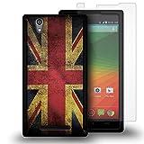 Zmax Case, CoverON for ZTE Zmax Z970 Hybrid Case [VitaCase Series] Ultra Slim Fit Hard Polycarbonate Rubberized Back Phone Cover - (British UK Flag)