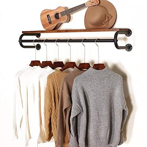 47-B On The Wall Hanger - Colgador de pared para mujer, de madera maciza, estante lateral para colgar ropa infantil (color: B, tamaño: 80 cm)