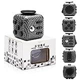 Yetech Juguete Antiestrés Stress Cube,Black Cubo Anti-estrees con 6 módulos relajantes, para niños y Adultos Anti-ansiedad Anti-Stress