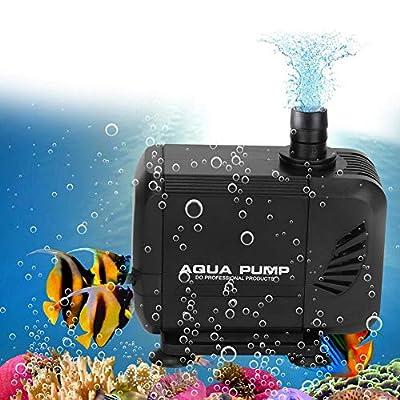 Cocoarm Submersible Water Pump 80 GPH 300L/H Mini Ultra-Quiet Fountain Water Pump 40W IP68 Fish Tank Pump Amphibious Pump Aquarium Pump with 3 Nozzles for Pet Fountain, Aquarium UK Plug 220V