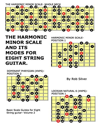 The Harmonic Minor Scale and its Modes for Eight String Guitar (Basic Scale Guides for Eight String Guitar) (Volume 2)