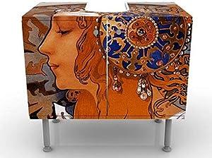 Apalis Design Vanity Loren 60x 55x 35cm, Piccolo, Largo 60cm, Regolabile, lavandino, lavabo, Rubinetto per lavabo da Bagno, Armadio, unità di Base, Bagno, Narrow, Flat
