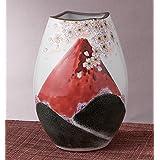 九谷焼 8号花瓶 赤富士 :福田良則