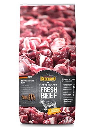 Belcando Mastercraft Fresh Beef [10kg] Trockenfutter für Hunde | 80% Frischfleisch | Hundefutter getreidefrei | sortenrein | für alle Rassen