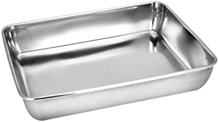 Sheet Pan,Cookie Sheet,Heavy Duty Stainless Steel Baking Pans,Toaster Oven Pan,Jelly Roll Pan,Barbeque Grill Pan,Deep Edg...