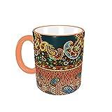 Taza de café Boho Paisley Golden Tazas de café Tazas de cerámica con Asas para Bebidas Calientes - Cappuccino, Latte, Tea,...