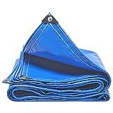 LIANGJUN Lona Alquitranada Espesamiento Cloruro De Polivinilo Revestimiento Impermeable Anti-Sol Paños De Toldos Cubierta De Tela Lona Camión 500g/m², 11 Tamaños, Azul (Tamaño : 2X2m)