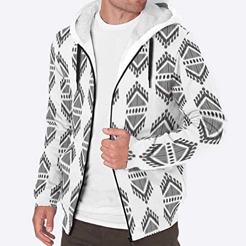 Dogedou mannen rits truien winter dikker fleece grafische geometrisch patroon jassen