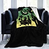 Anime Nightmare Before Christmas Oogie Boogie Blanket Super Soft Flannel Plush Fluffy Light Warm Breathable Comfortable for Couples and Families