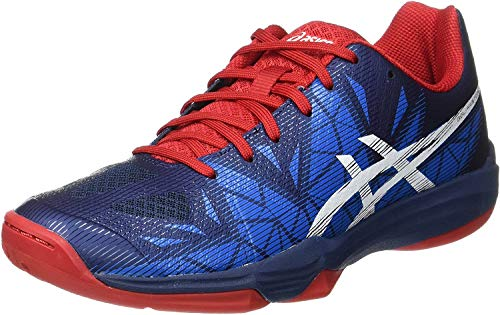 ASICS Herren Gel-Fastball 3 Handballschuhe, Blau (Insignia Blue/White/Prime Red), 45 EU