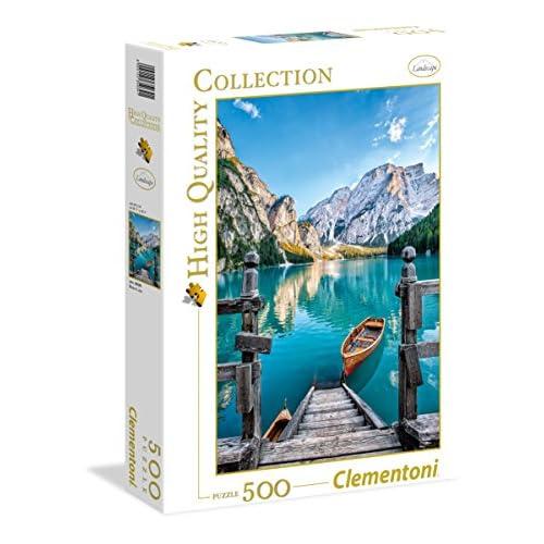 Clementoni- Braies Lake High Quality Collection Puzzle, 500 pezzi, 35039
