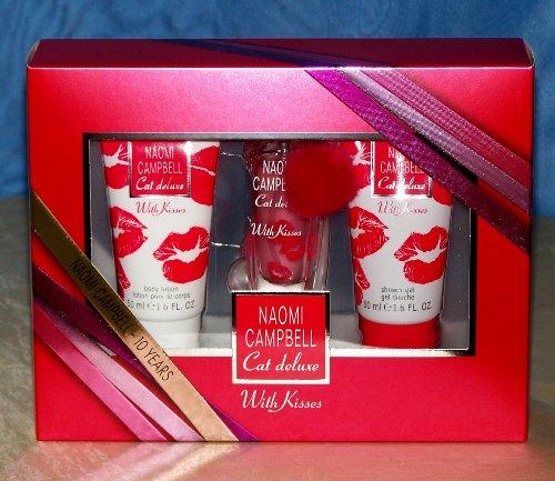 Naomi Campbell Cat de Luxe with Kisses femme/woman, (Eau de Toilette 15 ml + Duschgel 50 ml + Bodylotion 50 ml)