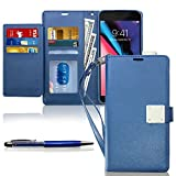 KULECase iPhone SE 2020 Wallet Case, iPhone 7/8/6 Wallet Case for Women Men, Premium PU Leather Cover with Kickstand, Card Holder Slots and Hand Strap, Flip Holster with Stylus Pen (Navy Blue)
