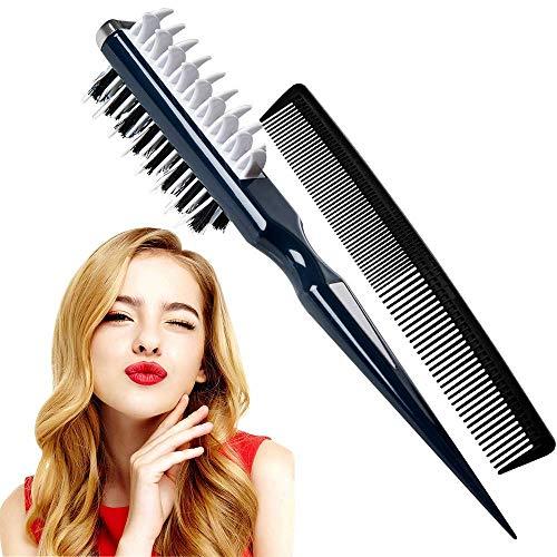 Hook Toupierkamm, Haarbürste Multifunktion Damen 5d Hair Volumizer, 2020 New Style Tupier Kamm Bürste Toupierbürste Kämmbürste Styling Kamm Hair Comb Volumizer Frisurenkamm für Damen Männer