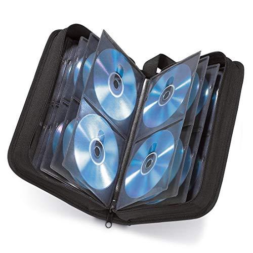Hama CD Tasche für 80 Discs / CD / DVD / Blu-ray (Mappe zur Aufbewahrung , platzsparend für Auto & Zuhause, Transport-Hüllen) Schwarz