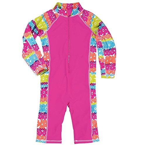 Sun Smarties UPF 50+ Rainbow One Piece Long Sleeve Capri Pant Sunsuit 18M Pink