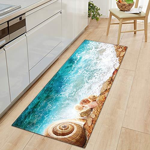 DREAMING-Beach Kitchen Sofa Wardrobe Shoe Cabinet Floor Mat Bathroom Non-Slip Floor Step Mat Door Mat, Household Carpet 40 * 60cm