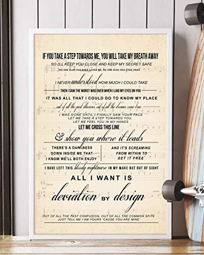 Trendora Decor Song #3 Song Lyrics Portrait Poster Print (12