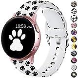 LEOMARON - Bracelet de rechange pour Samsung Galaxy Watch Active/Active - 40 mm - 44 mm / Galaxy Watch 42 mm / 20 mm - Motif imprimé sans décoloration - Pour Galaxy Gear S2 Classic/Gear Sport Femme